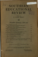 Southern Educational Review