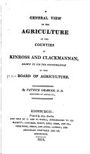 Agricultural Surveys  Kinross and Clackmannan  1814