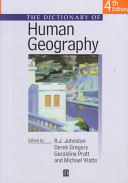 The Dictionary of Human Geography Book