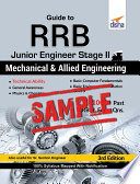 Free Sample Guide To Rrb Junior Engineer Stage Ii Mechanical And Allied Engineering
