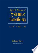 """Bergey's Manual of Systematic Bacteriology: Volume 3: The Firmicutes"" by Paul Vos, George Garrity, Dorothy Jones, Noel R. Krieg, Wolfgang Ludwig, Fred A. Rainey, Karl-Heinz Schleifer, William B. Whitman"