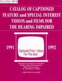 Pdf Catalog of Captioned Films/videos for the Deaf