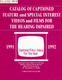 Catalog Of Captioned Films Videos For The Deaf