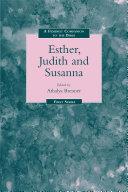Feminist Companion to Esther  Judith and Susanna