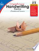 Comprehensive Handwriting Practice  Traditional Cursive  Grades 2   5