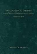 Apostolic Fathers  The