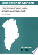 The Distribution And Habitats In The North Atlantic Of Two Gnathiid Species Crustacea Isopoda And Their Reproductive Bilogy In The Denmark Strait And North Of Iceland Book