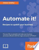"""""""Automate it! Recipes to upskill your business"""" by Chetan Giridhar"""