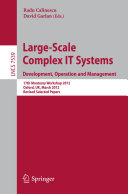 Large-Scale Complex IT Systems. Development, Operation and Management Pdf/ePub eBook