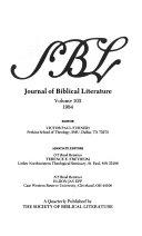 Journal of Biblical Literature