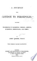 A Journey from London to Persepolis Book
