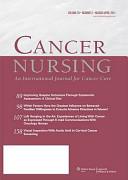 Cancer nursing.