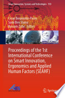 Proceedings of the 1st International Conference on Smart Innovation, Ergonomics and Applied Human Factors (SEAHF)