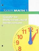 Saxon Math 1