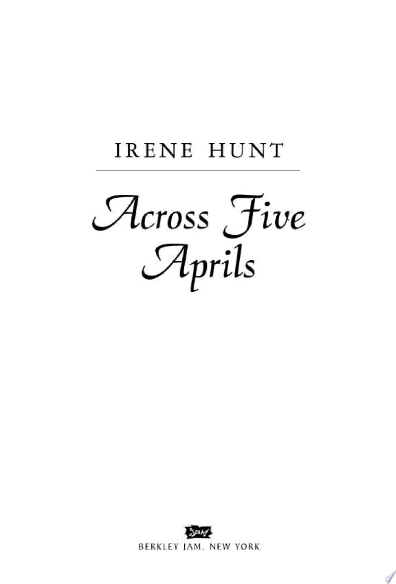 Across Five Aprils banner backdrop