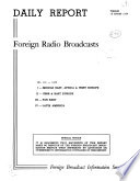 Daily Report  Foreign Radio Broadcasts