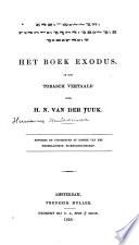 Het boek Exodus in het Tobasch vertaald door H  N  Van der Tuuk