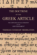 The Doctrine of the Greek Article Book