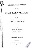 Annual Report Of The State Board Of Pardons Of The State Of Montana