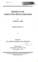 Research in the United States Office of Education