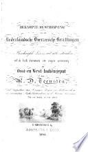 Beknopte Beschrijving van de Nederlandsche overzeesche bezittingen, etc