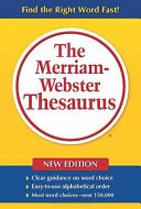 The Merriam Webster Thesaurus for Large Print Users