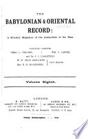The Babylonian and Oriental Record