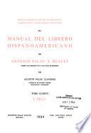 Indice alfabético de títulos-materias, correcciones, conexiones y adiciones del Manual del librero hispanoamericano de Antonio Palau y Dulcet