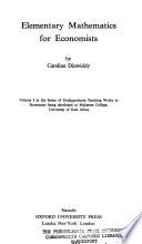 Elementary mathematics for economists
