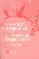 Geophysical Applications for Geotechnical Investigations