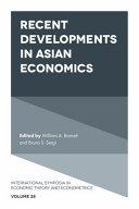 Recent Developments in Asian Economics