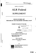 American law reports  alr federal  cases and annotations