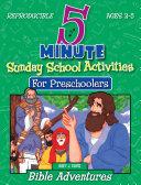 Five Minute Sunday School Activities for Preschoolers
