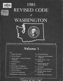 1981 Revised Code of Washington  Titles 1 91