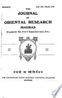 The Journal of Oriental Research