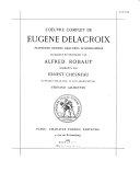 L'oeuvre complete de Eugène Delacroix
