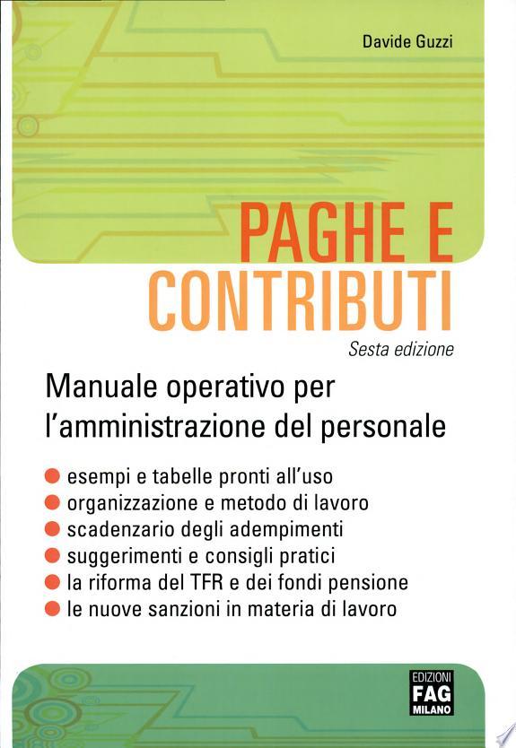 Paghe e contributi. Manuale operati