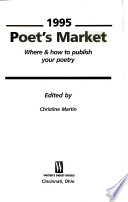 1995 Poet's Market  : Where & How to Publish Your Poetry
