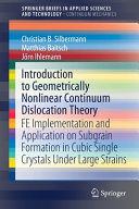 Introduction to Geometrically Nonlinear Continuum Dislocation Theory