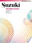 Suzuki Recorder School   Volume 4 Book