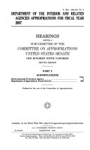 Department of the Interior and Related Agencies Appropriations for ...