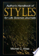 Author S Handbook Of Styles For Life Science Journals
