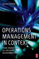 Operations Management in Context Pdf/ePub eBook