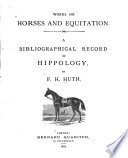 Works on Horses and Equitation Book