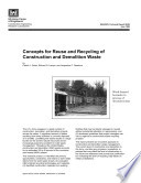 Concepts for Reuse and Recycling of Construction and Demolition Waste