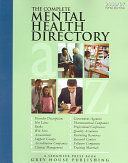 The Complete Mental Health Directory Book