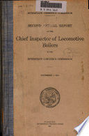 Annual Report of the Director of Locomotive Inspection to the Interstate Commerce Commission Book PDF
