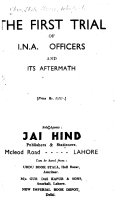 The First Trial of I N A  Officers and Its Aftermath