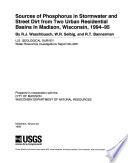 Sources of Phosphorus in Stormwater and Street Dirt from Two Urban Residential Basins in Madison  Wisconsin  1994 95