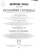 Dictionnaire français illustré et encyclopédie universelle